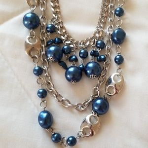 5 for $25 Silver and Blue necklace and Earring set